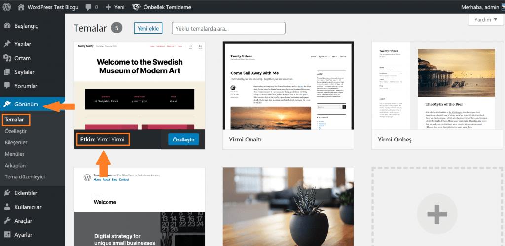WordPress'te Tema Nasıl Silinir?